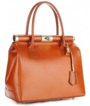 Kožené kabelky kufříky Genuine Leather zrzavý