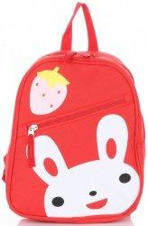Plecaczki Dla Dzieci do Przedszkola firmy Madisson Zajączek Multikolor - Czerwony