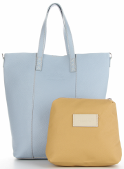 Vittoria Gotti Firmowy Shopper Made in Italy z Kosmetyczką Błękit