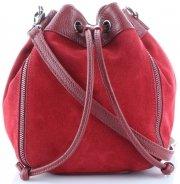 Modna Włoska Torebka Skórzana Listonoszka firmy Vittoria Gotti Made in Italy Czerwona