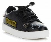Tenisówki Damskie w modne wzory firmy Ideal Shoes Czarne