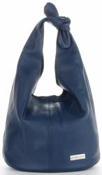 Vittoria Gotti Made in Italy Modny Shopper XL z Kosmetyczką Uniwersalna Torba Skórzana na co dzień Granat