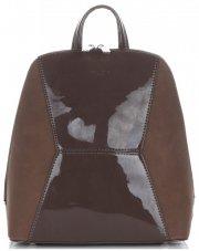 Uniwersalne i Eleganckie Plecaczki Damskie firmy David Jones Brązowy
