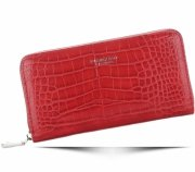 Portfel Damski Diana&Co Firenze wzór Aligatora Czerwony