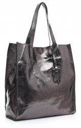 Torba Skórzana Shopper Bag z Kosmetyczką Iron