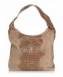 Kožené kabelky Aligator zemitá