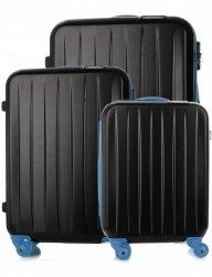 Kufry renomované firmy David Jones Sada 3 v 1 Černá a modrá