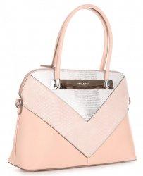 Elegantní Dámská kabelka kufřík David Jones Světle Růžová