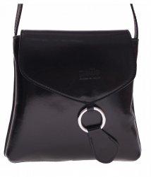 Kožená kabelka listonoška Vera Pelle černá