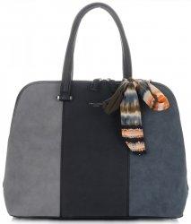Dámská kabelka kufřík David Jones multicolor černá
