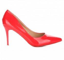 Elegantní dámské lodičky Lak červené