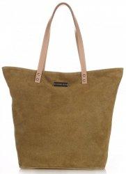 Kožené kabelky Vittoria Gotti Shopper zelená