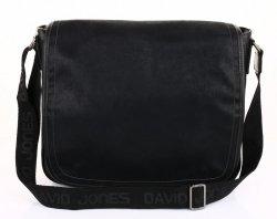 Prostorná pánská taška David Jones černá