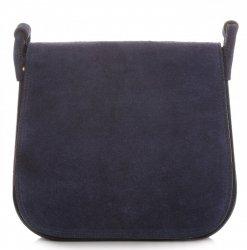 Listonoszka Skórzana Genuine Leather Granatowa