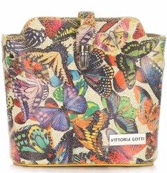 Listonoszki Skórzane Vittoria Gotti w Motyle Multikolor Żółta