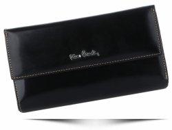 Dámska peŘaženka značky Pierre Cardin z lakovanej kože Čierna