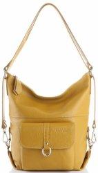 Vittoria Gotti univerzálna a praktická obchodná Kožená taška, príležitostná taška na batoh, veľká taška na Messenger XL, horčica