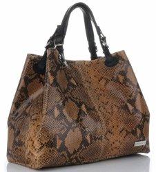 Vittoria Gotti exkluzívna Kožená taška taliansky Kupujúci Veľkosť XL had motív svetlo červená