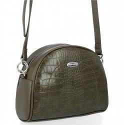 Štýlová dámska taška elegantná taška na posol v štýle aligátora Davida Jonesa khaki