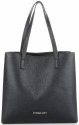 Vittoria Gotti talianska Klasická Kožená taška elegantná Kupujúci pre každú príležitosť Čierna