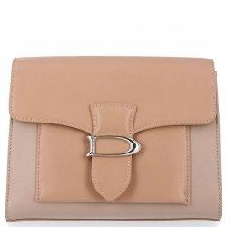 Elegantná taška Dámska štýlová taška Messenger David Jones prášková ružová