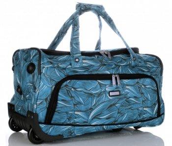 Cestovní taška na kolečkách s teleskopickou rukojetí renomované firmy Madisson Multicolor - Modrá