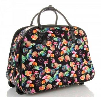Cestovní taška na kolečkách s výsuvnou rukojetí Or&Mi Flaming&Hat Černá