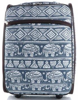 Palubní kufřík značky Or&Mi Egyptští sloni multicolor modrá