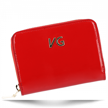 Lakovaná Dámská Kožená Peněženka Vittoria Gotti Made in Italy Červená