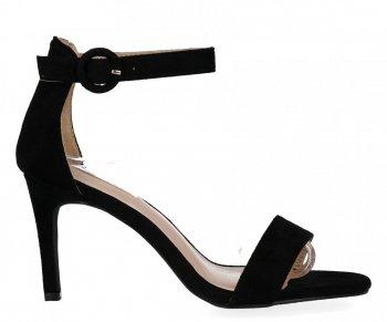 Černé dámské sandály na podpatku Bellucci
