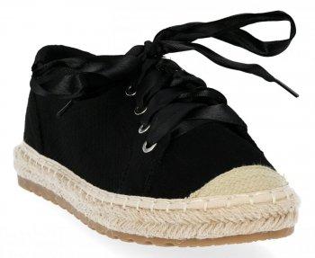 Černé dámské sportovní boty espadrilky Bellucci
