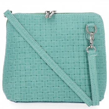 Malé kožené kabelky listonošky Genuine Leather mátová