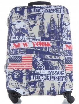 Obal na kufr Snowball M size New York vícebarevný modrá