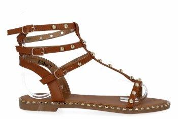 Camelové módní dámské sandály Bellicy