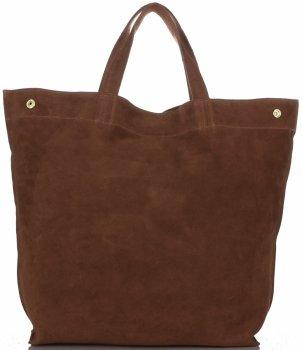 Univerzální Dámské kabelky ShopperBag XL Vera Pelle hnědá