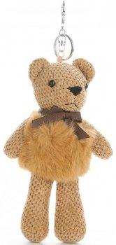 Přívěšek ke kabelce Plyšový medvídek s přírodním králíkem zrzavý