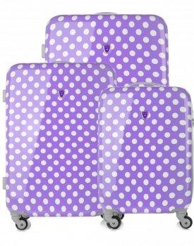Kufry renomované firmy Madisson Sada 3v1 fialové