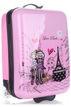 Módní Palubní kufřík Paris Madisson multicolor - růžová