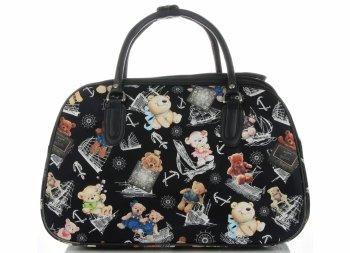 Malá cestovní taška kufřík Or&Mi medvědi Multicolor - černá