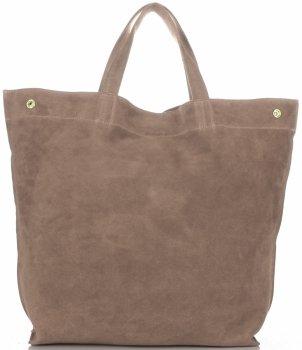 Univerzální Dámské kabelky ShopperBag XL Vera Pelle zemitá