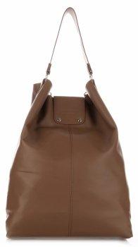Velká Kožená kabelka Shopper Bag XXL zemitá