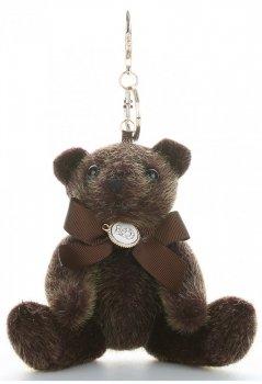 Přívěšek ke kabelce elegantní medvídek čokoláda