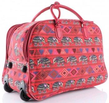 Cestovní taška na kolečkách s výsuvnou rukojetí Egyptští sloni Or&Mi multicolor červená