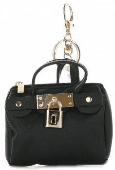 Přívěšek ke kabelce Kapsička na klíče černá