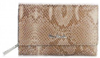 Dámská kožená peněženka Pierre Cardin béžová