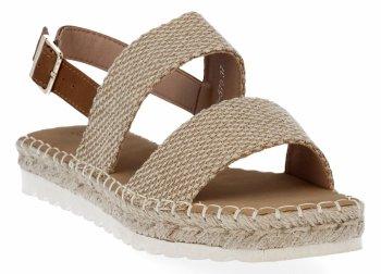 Camelové dámské sandály espadrilky Bellucci