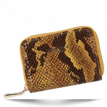 Exkluzivní Dámská Malá Peněženka hadí vzor Diana&Co Hořčičná