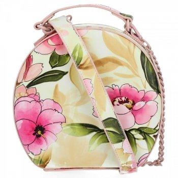Módní Kabelky Listonošky květinový vzor Diana&Co Práškově Růžová