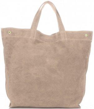Univerzální Dámské kabelky ShopperBag XL Vera Pelle béžová