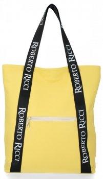Módní Dámské Kabelky Shopper značky Roberto Ricci Žlutá